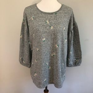 🎄Old Navy blouson daisy sweater size XL NWT🎄